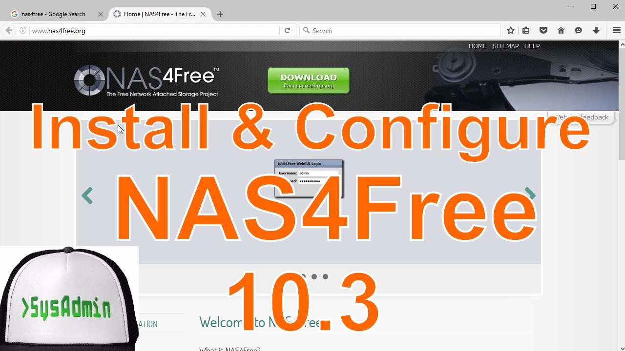 How to Install & Configure NAS4Free 10 3 on VMware Workstation/Player Easy  Tutorial [HD]