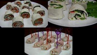 Простые и вкусные  закуски, на праздничный стол или фуршет.