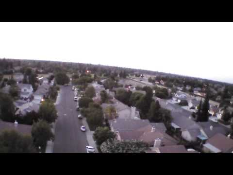 AR Drone 2 flight at dusk after prop balance.
