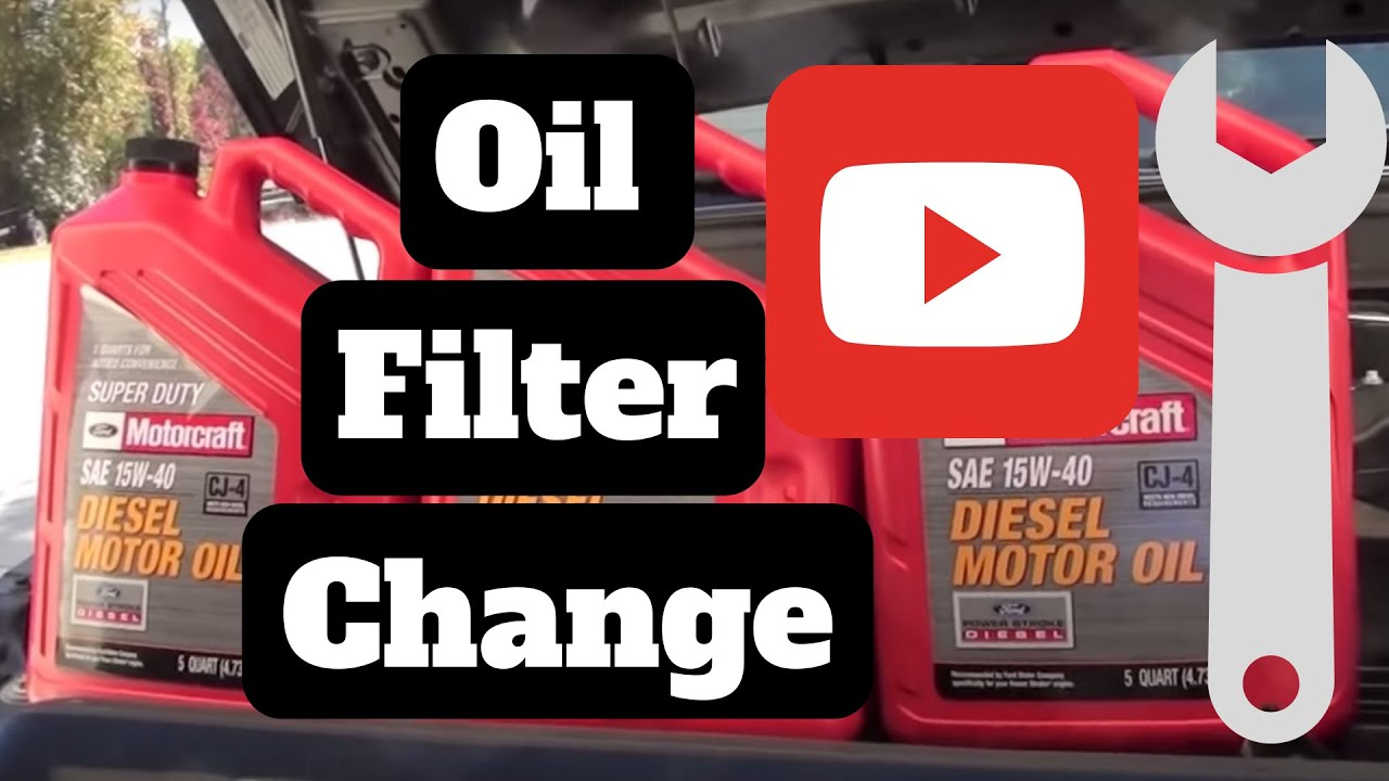 how to oil change on a diesel 6 7l 2011 2017 ford f250 f350  [ 1280 x 720 Pixel ]