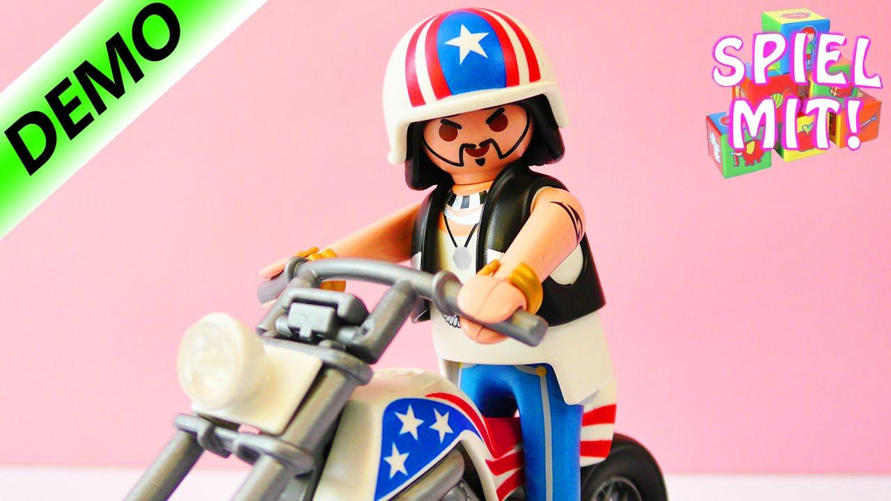 Biker Mit Chopper Playmobil City Action 5280 | Cooler Rocker Mit Lederweste  Und Krassem Motorrad