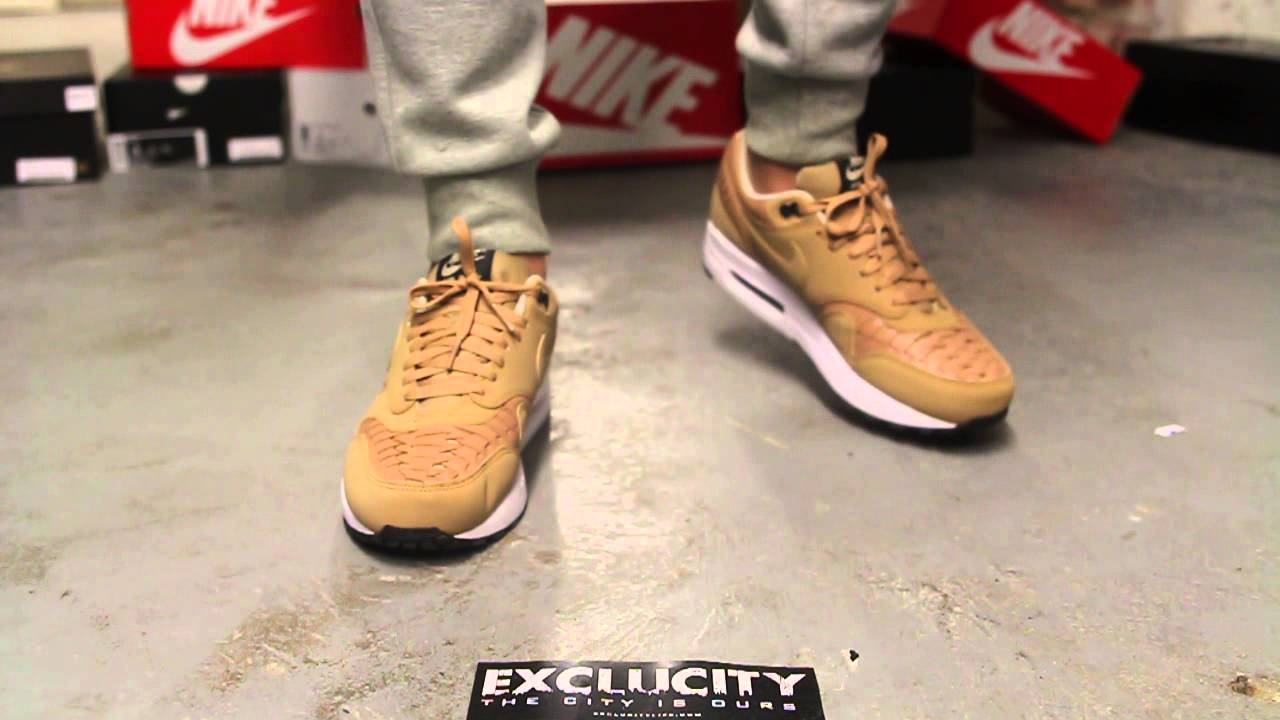 "timeless design 0ecb0 4183e Nike Air Max 1 Woven ""Vachetta Tan"" On-feet Video at Exclucity - YouTube"