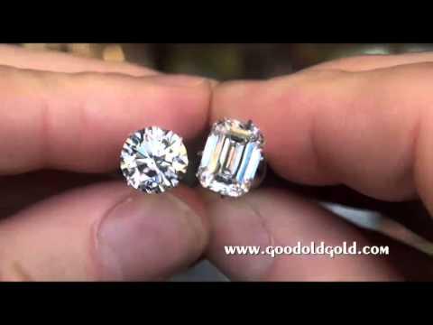 Comparing 3ct Princess, Emerald and Round brilliant cuts