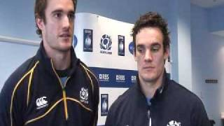 The Evans brothers on Scotland