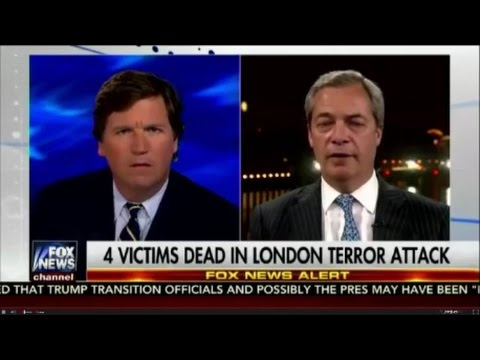 Nigel Farage talks to Tucker on British attack