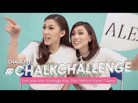 """#ChalkChallenge: Toni and Alex Gonzaga Play The """"Which Sister"""" Game"""