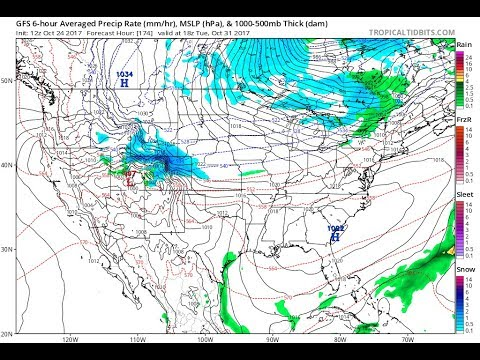 Snow Threats Appear In The Long Range. Tropical System Could Impact East Coast With Rain Sunday