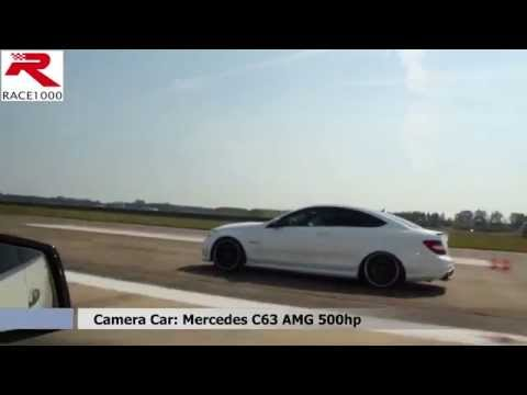 Mercedes C63 AMG Coupe 580hp vs. C63 AMG Sedan 500hp - ROLL RACE