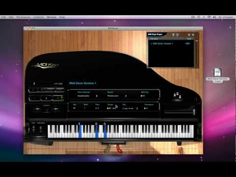 MIDIKeyz Keyboard and Piano Instructional Software Demo Tutorial - Playing MIDI files