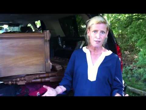 Betsy buffet, antique crib and rugs...