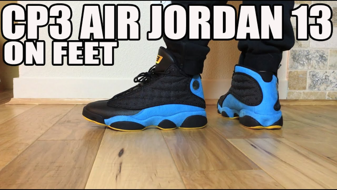 separation shoes 0b392 80c98 On Feet  Air Jordan Retro XIII 13 CP3 Chris Paul Away Sunstone Blue  (823902-015 8-13)