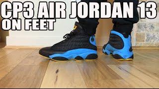 On Feet: Air Jordan Retro XIII 13 CP3 Chris Paul Away Sunstone Blue (823902-015 8-13)