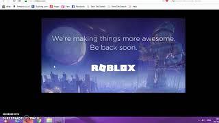 Roblox Is Shutting Down For Maintenance...