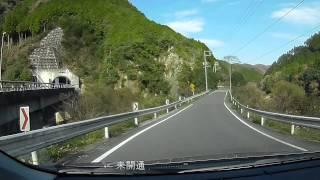 国道429号、岡山市県道72号線-R53津山市  車載動画