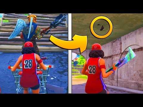 TRAPPING A SHOPPING CART GLITCHER | Fortnite Battle Royale