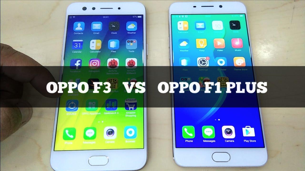 Oppo F3 Vs Oppo F1 Plus - Speed Test & Look Comparison - YouTube