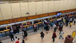 台北捷運橘線 頂溪站 早晨通勤時段 台北メトロオレンジ線 朝通勤ラッシュ