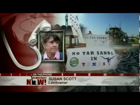 Texas Landowners Join Environmentalists For Blockade of Keystone XL Tar Sands Pipeline