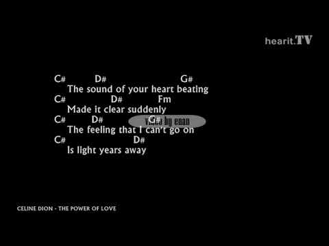 celine-dion---the-power-of-love-lyrics-w/-chords