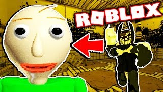 BALDI IN THE BATIM UNIVERSE! [Dark Corridors Roblox Bendy RP] Bendy and The Ink Machine