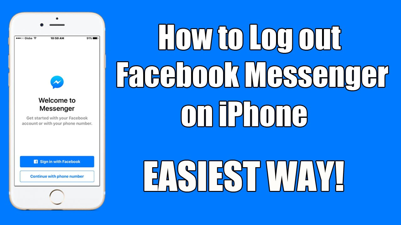 how to logout of messenger on iphone how to logout messenger on iphone 2016 2688
