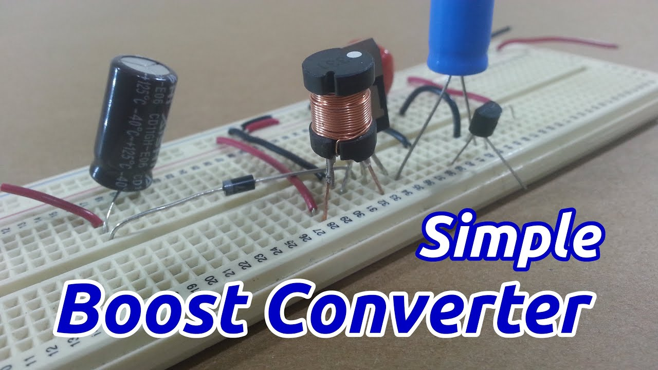Circuito Boost : Simple boost converter youtube