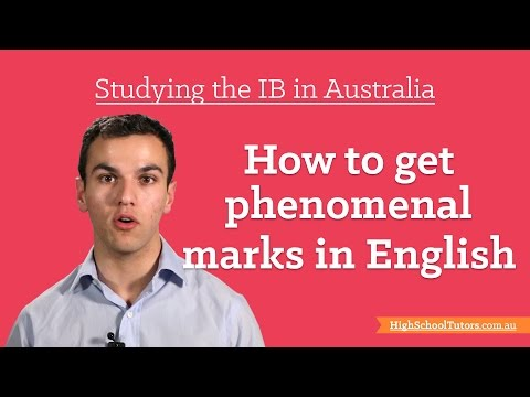 Studying The IB In Australia: Getting Great Marks In English