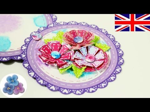 How to make a Telescopic Card with Paper Flowers Mohers Day – Make Invitation Card