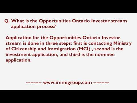 What is the Opportunities Ontario Investor stream application process?