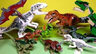 10+ Lego Dinosaurs Toys Jurassic World Indominus Rex T-Rex Velociraptor Triceratops Pteranodon