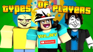 TYPES of PLAYERS in Tower Of Hell! (Roblox)