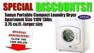 [Laundry Dryer BEST BUY] Sonya Portable Compact Small Laundry Dryer 8.8lbs BEST OFFERS/DISCOUNTS Thumbnail