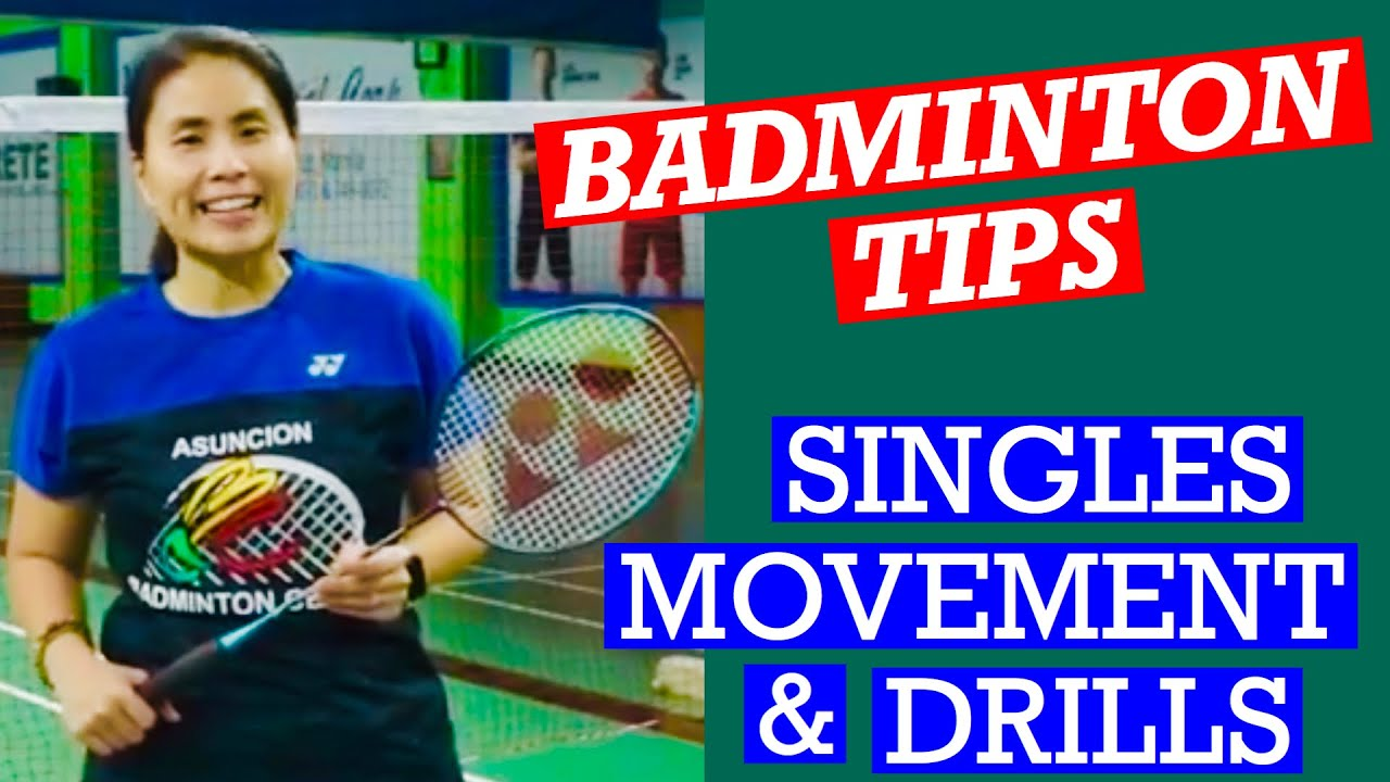 BADMINTON SINGLES MOVEMENT AND DRILLS- How to move efficiently playing singles #badminton #singles