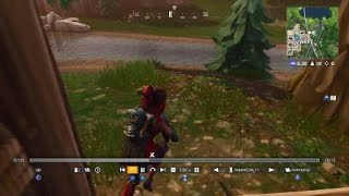 Fortnite: Cheaters teaming on Solo. And a player going under the map.