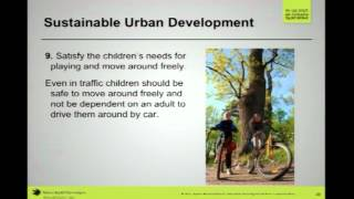"Karin Hammarlund (Swedish Society for Nature Conservation): ""Sustainable Urban Development"""