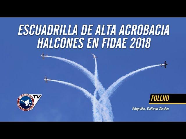 Presentación de Escuadrilla de Alta acrobacia Halcones de la FACh en FIDAE 2018