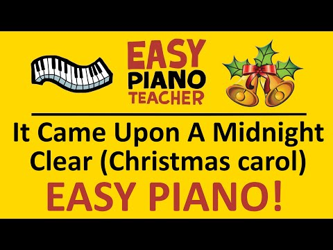 🎹 EASY piano: It Came Upon A Midnight Clear keyboard tutorial (Christmas carol) by #EPT thumbnail