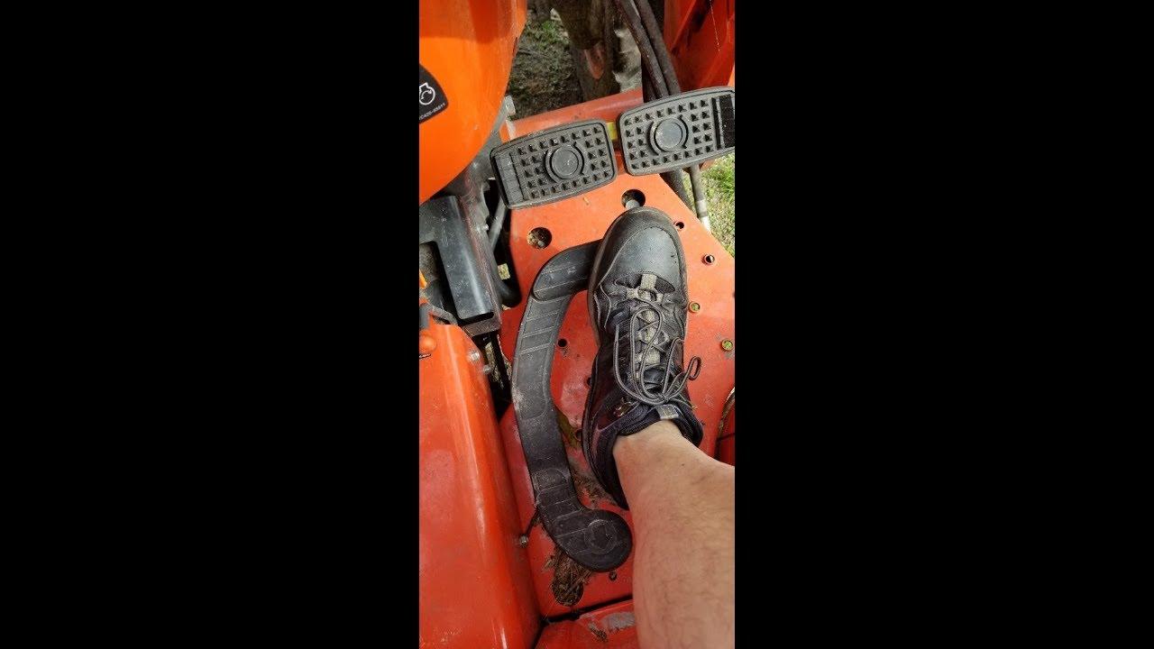 Kubota HST Pedal demo
