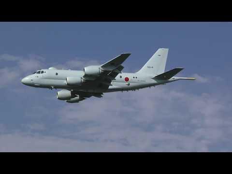 【10/11速報!!】P-1哨戒機、新造14号機、ローパス・テスト飛行【海上自衛隊】