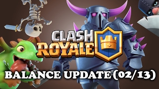 Balance Changes 02/13 | Clash Royale | 4 SKELETONS!