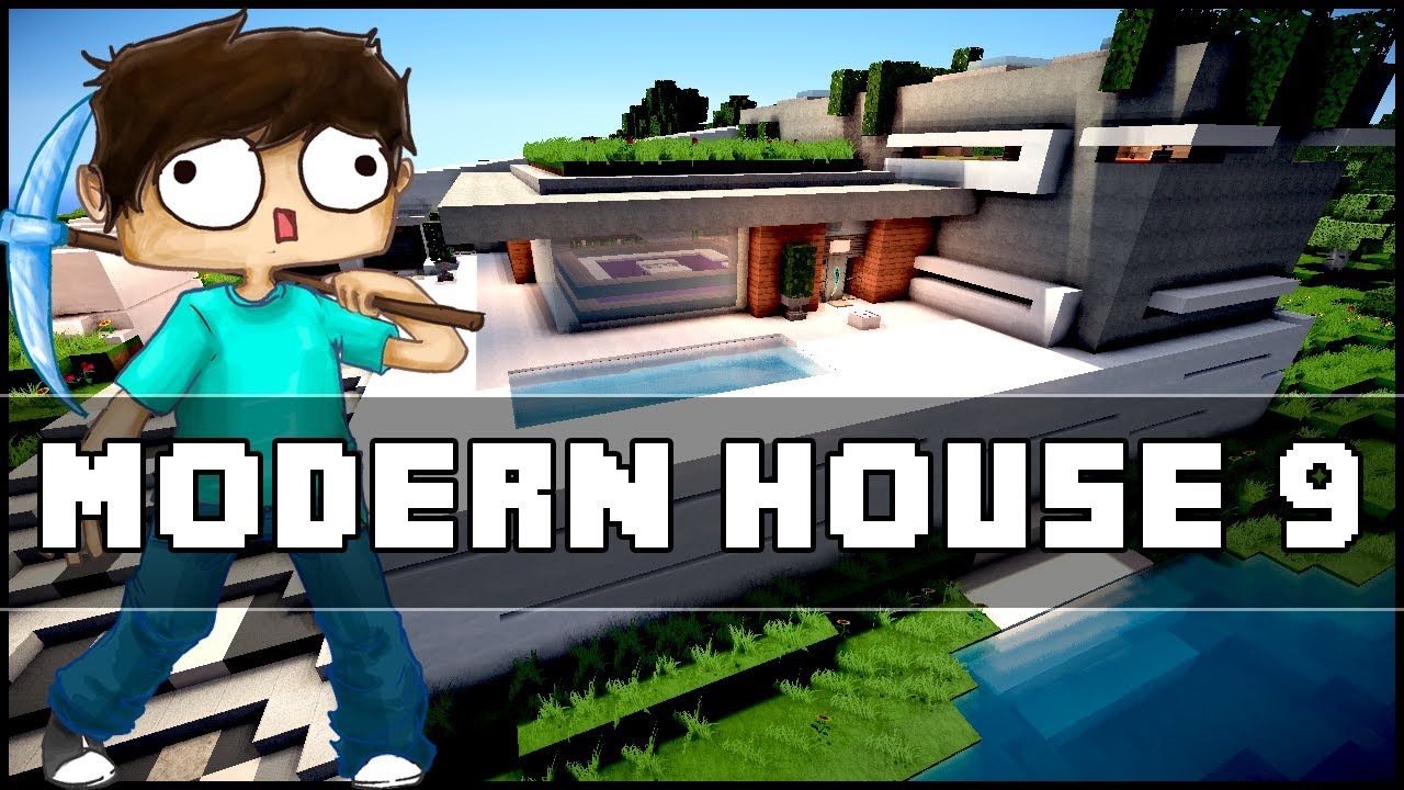 Minecraft modern house 9 youtube