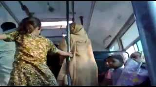 vuclip Desi aunties fighting in bus and reveling the 'sex' scandle of each-other. Must see