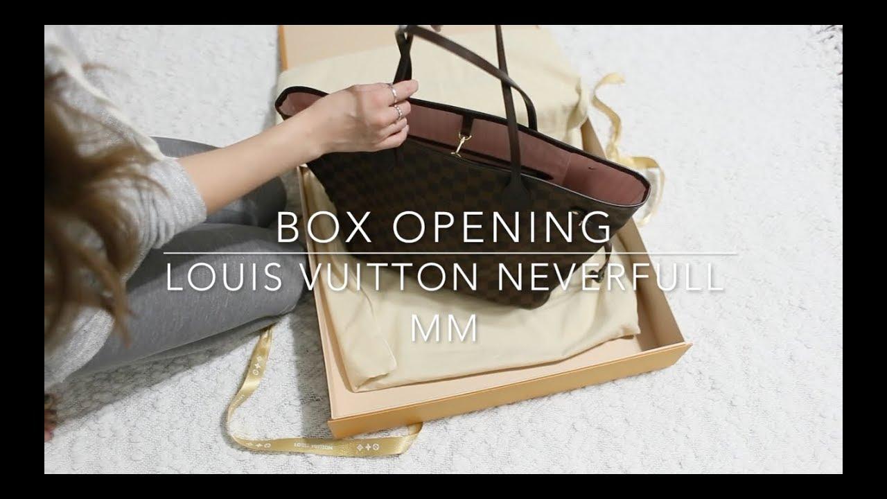 2913f91831 Box Opening - Louis Vuitton Neverfull - YouTube