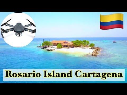 Cartagena Colombia: Islas del Rosario y Totumo vista aerea 4K