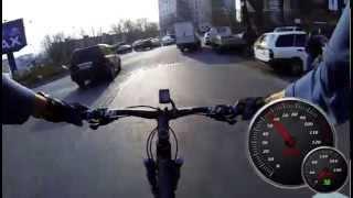 83 км/ч на велосипеде в городе