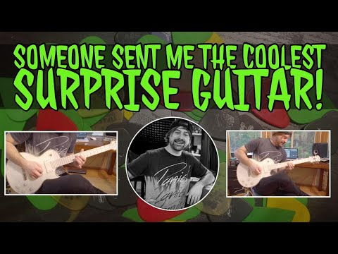 someone sent me the coolest surprise guitar ever!!