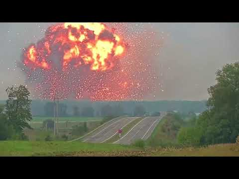 Massive explosion at Ukraine ammunition depot forces evacuation