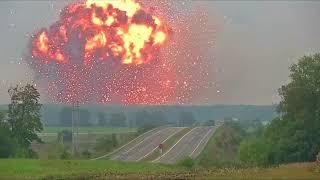 Massive explosion at Ukraine ammunition depot forces evacuation