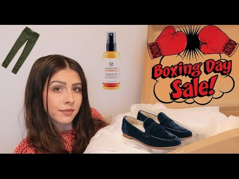 Boxing Day Try-On Haul 2016   Zara, Hollister & The Body Shop
