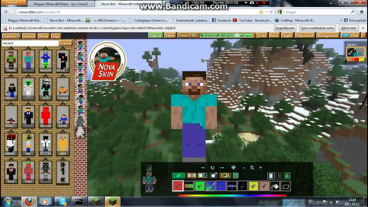 Minecraft skin felt lt s youtube Minecraft 3d model maker